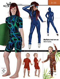 Jalie 3135 Skin suits - balletpakje, surfpak (wetsuit), turnpakje, kunstschaatspakje of gymnastiekpakje