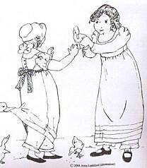 Sense and Sensibility - Girls Regency Gown