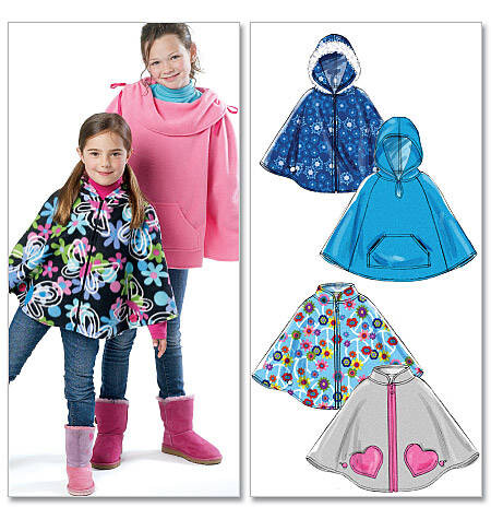 Kind Poncho McCalls Schnittmuster M6431 -Cape Umhang
