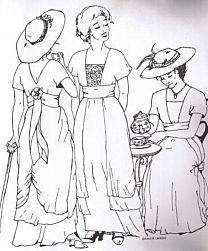 Sense and Sensibility - 1910 Tea Gown