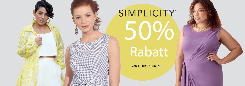 Simplicity 50% Rabatt